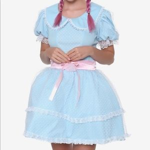 Hot Topic Doll Dress Baby Blue SZ LG NWT